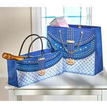 2 darčekové tašky, modrá
