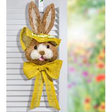 """Dekorace na dveře """"Zajíc"""", žlutá"""