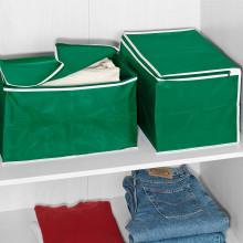 2 úložné boxy, zelená