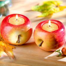 """2 svietniky """"Jablko"""""""
