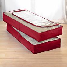 2 ochranné vaky pod posteľ, červená
