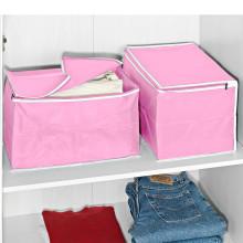 2 úložné boxy, ružová