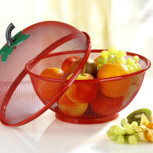 2dílný košík na ovoce, červená
