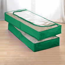 2 úložné vaky pod postel, zelená