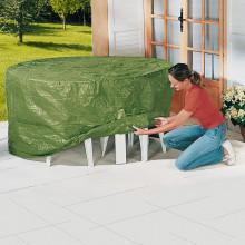 Kryt na stôl + 4 záhradné stoličky