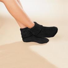 1 pár termo ponožiek, čierna