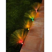 4 záhradné osvetlenia s optickými vláknami