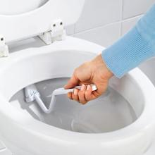 Kartáč na toalety, bílá