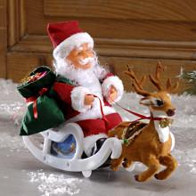 Santa Claus so saňami + hudba