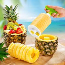 Kráječ na ananas, zelená-bílá