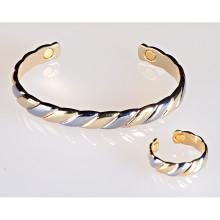 Magnetický prsteň zlatej a striebornej farby