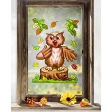 """Obrázek na okno """"Sova"""""""
