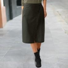 Pouzdrová sukně s potiskem kostičky