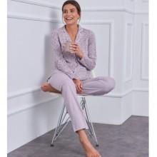 Bavlněné pyžamo s kostýmkovým límečkem
