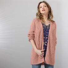 Ažurový svetr