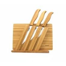 Ceramiczne noże + bambusowa deska do krojenia