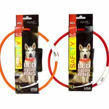 Nyakörv DOG FANTASY világító USB