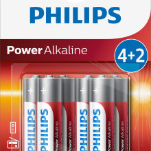 Baterie Philips 4+2 AA (1,5V)