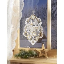 """Okenná dekorácia """"Kostol"""""""