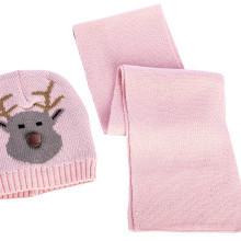 Komplet czapki i szalika dla dziewczynki