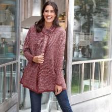 Pruhovaný svetr ve střihu pláště