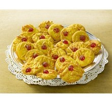 Mandlové koláčky s třešněmi