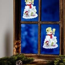 """Obrázek na okno """"Sněhulák"""""""