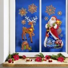 """9dílný obraz na okno """"Vánoční sen"""""""
