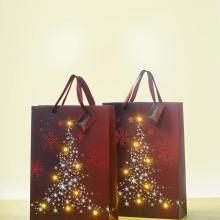 """LED darčeková taška """"Svietiaci stromček"""""""