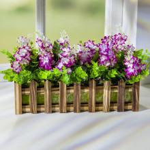 Drevený hrantík s kvetinami