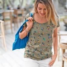 Tričko s potlačou kvetín