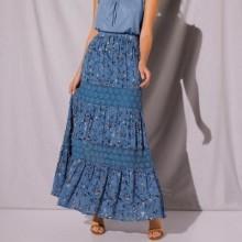 Dlouhá volánová sukně
