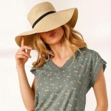 Tričko macramé s potiskem a krátkými rukávy