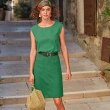 Viskózová suknňa s vreckami