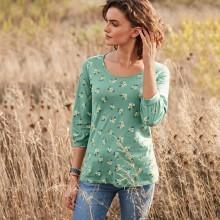 Tričko s potlačou a blúzkovými rukávmi,  ekologické spracovanie