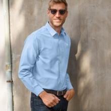 Jednofarebná košeľa s dlhými rukávmi, popelín
