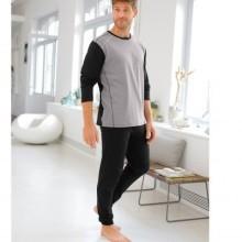 Pyžamo s prošitím a dlouhými rukávy, s kalhotami