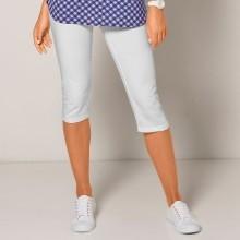 Jednobarevné korzárské kalhoty