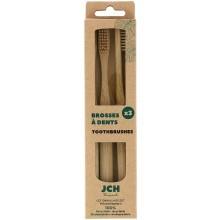 Bambusový kartáček na zuby, sada 3 ks