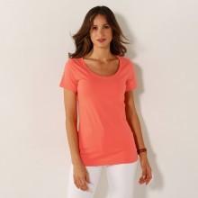 Jednobarevné tričko s kulatým výstřihem