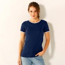 Tričko s kontrastními lemy