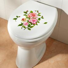 """2dílná nálepka na WC """"Růže"""""""