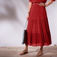 Dlhá jednofarebná sukňa
