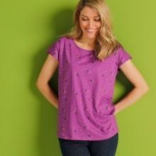 Tričko s potiskem, purpurové, eco-friendly