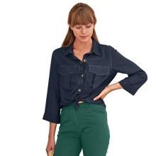 Jednofarebná košeľa s vreckami