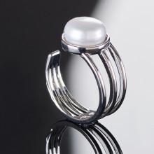 Prsteň so sladkovodnou perlou