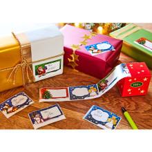 100 vianočných etikiet