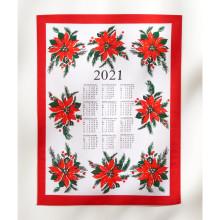 Utěrka/kalendář Vánoční hvězda 2021