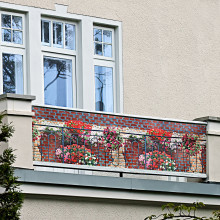 "Balkónová zástena ""Kvety"""