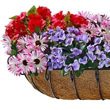 3 pestrofarebné kytice do hrantíkov